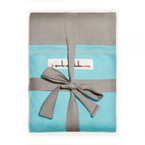 Je Porte Mon Bebe - Echarpe de portage modèle gris clair poche turquoise