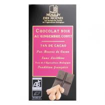 Moulin des Moines - Chocolat Noir Gingembre BIO 100g