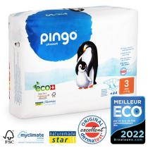 Pingo - 44 couches écologiques jetables T3 4-9kg