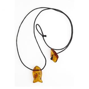 BalticWay - Adult Amber Fish Necklace