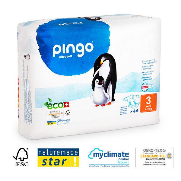 Pingo - 44 couches ecologiques jetables T3 4-9kg