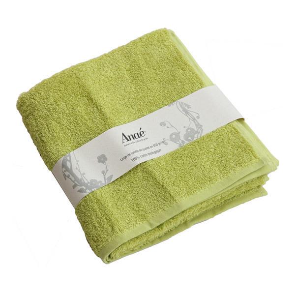serviette de toilette coton bio vert anis 233 acheter sur greenweez