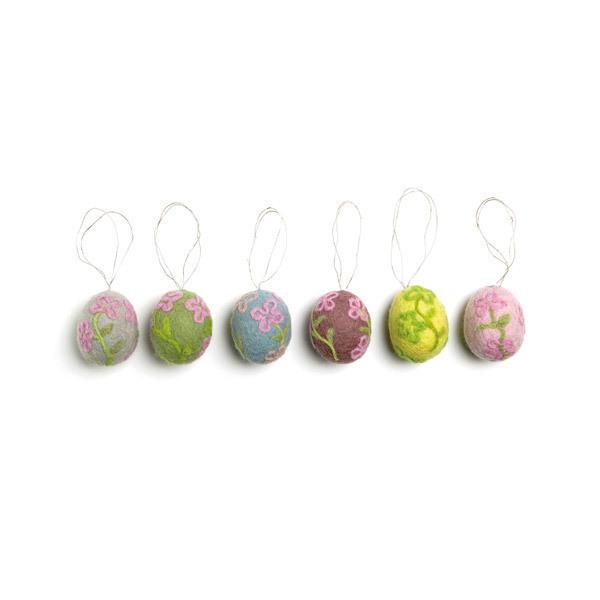 Én Gry og Sif - 6 Felt Easter Egg Decorations
