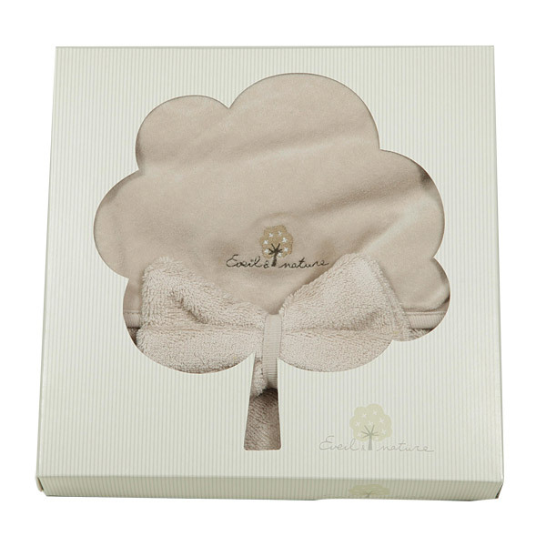Eveil & Nature - Bath Cape + Organic cotton bath glove