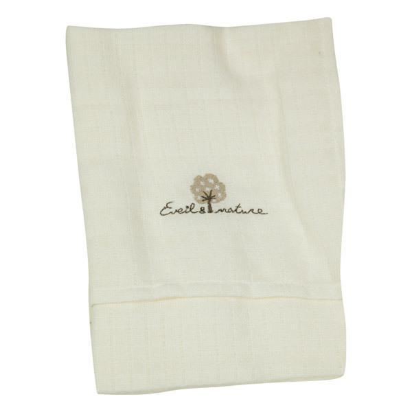 Eveil & Nature - 2er Set - Wickeltücher aus Bio-Baumwolle. Weiß