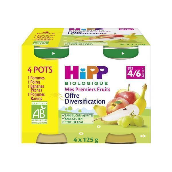 Hipp - 4 Pots Mes Premiers Fruits 4x125g