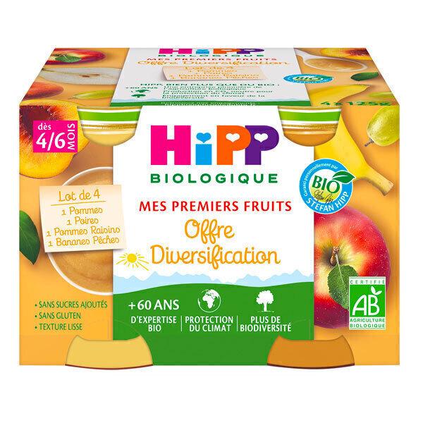 HiPP - Mes premiers fruits 4 mois - 4x125g