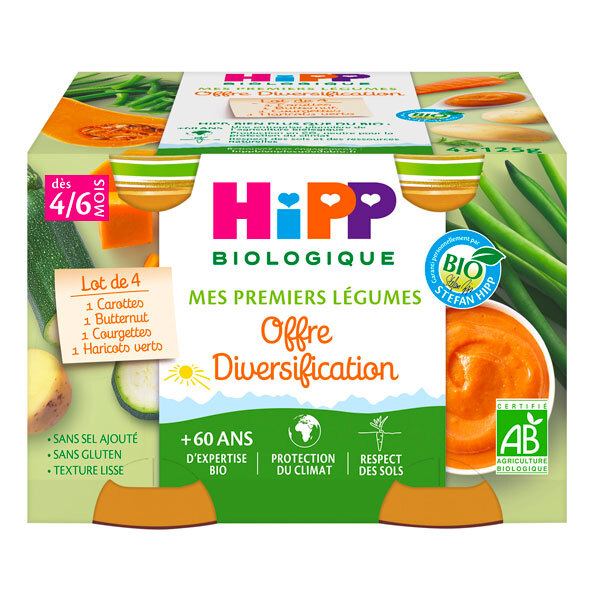 Hipp - Offre 1 Mes Premiers Légumes 4 Pots x125g