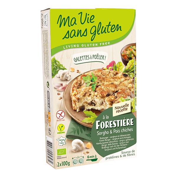 Ma Vie Sans Gluten - Galettes à la Forestière sorgho et pois chiches 2X100g