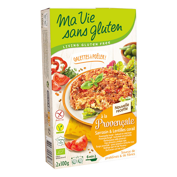 Ma Vie Sans Gluten - Galettes à la Provençale tomates et lentilles corail 2x100g