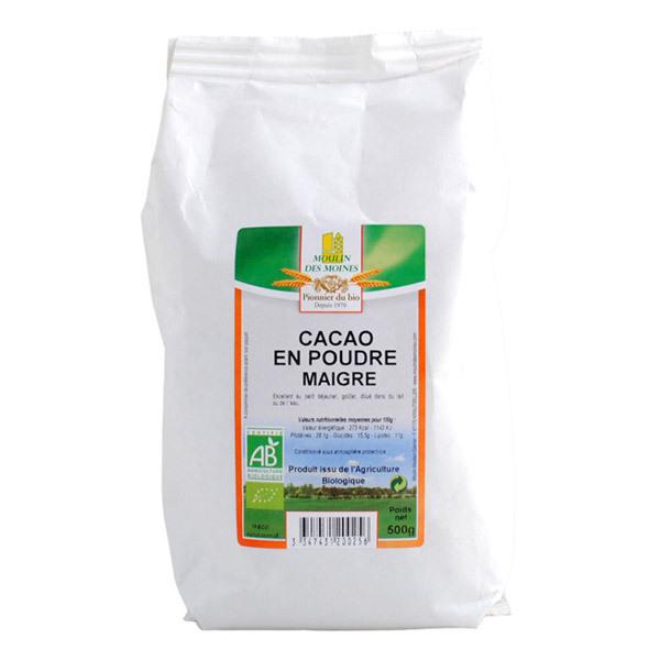 Moulin des Moines - Cacao en Poudre Maigre BIO 500g