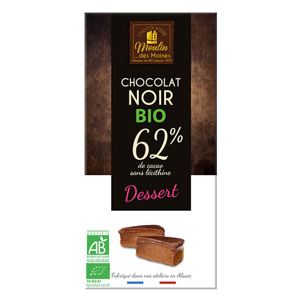 Moulin des Moines - Chocolat Noir Dessert BIO 100g