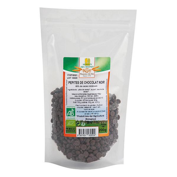 Moulin des Moines - Pépites chocolat noir 62% 200g