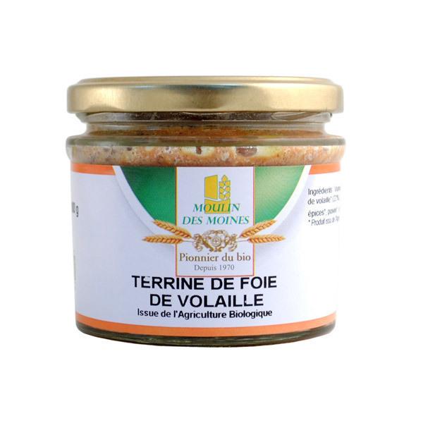 Moulin des Moines - Terrine de Foie Volaille BIO 180g
