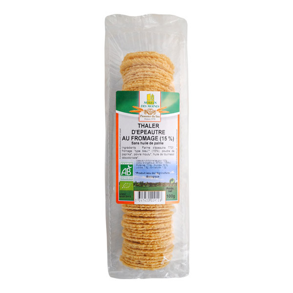 Moulin des Moines - Thalers Epeautre Fromage BIO 100g