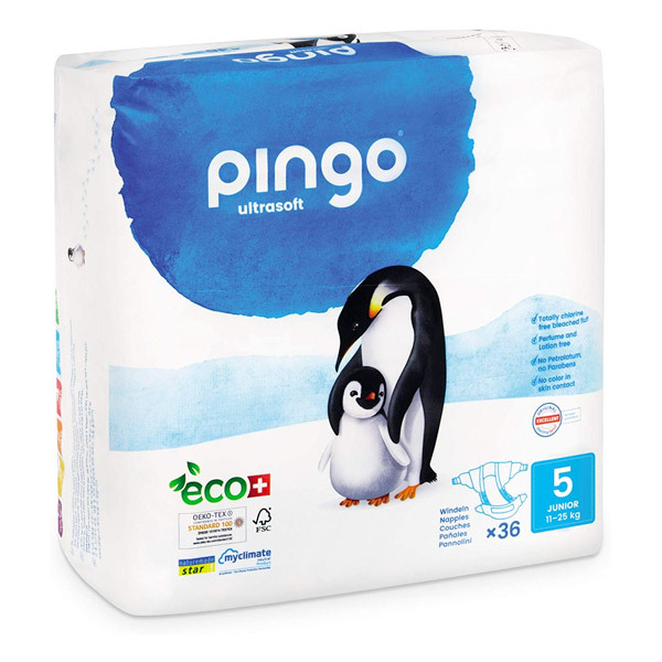 Pingo - Ecological disposable nappies S5 12-25kg