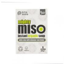 King Soba - Soupe Miso Blanc et Edamamé 6 x 10g