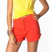 Tudo Bom - Shorts Lolita für Frauen, rot, mit hohem Bund