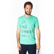 Tudo Bom - T-Shirt Rodrigo für Männer, hellblau Fille d'Ipane