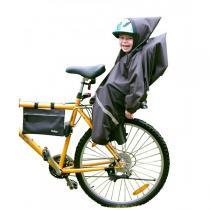 Tullsa - Habillage Pluie pour siège vélo Noir