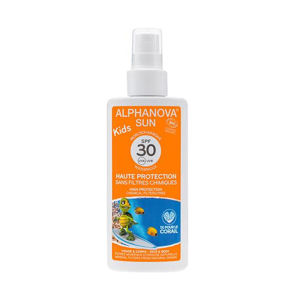 Alphanova - Crème solaire Kids, SPF 30, 125ml