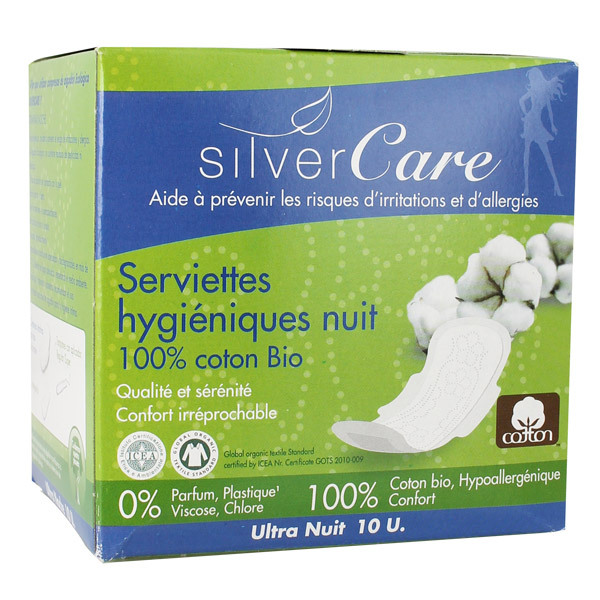 Silver Care - 10 Serviettes ultra fine Nuit