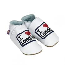 Starchild - Chaussons Cuir I love London Blancs