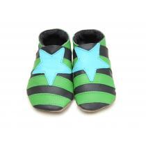 Starchild - Babyschuhe aus Leder - Star - grün & grau