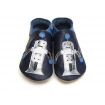 Starchild - Robot in Navy and Silver Slippers