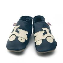 Starchild - Navy & Cream Scooter leather baby shoes
