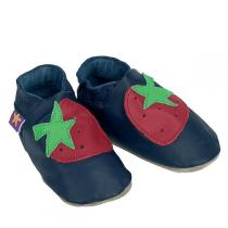 Starchild - Pantofole Pelle Strawberry Blu Mare
