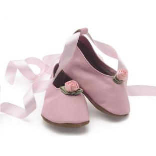Starchild - Chaussons Cuir Ballerina Roses