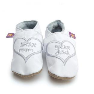 Starchild - 50 Percent Mum and Dad silver Slippers
