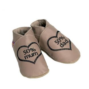 Starchild - Chaussons Cuir Mum and Dad Taupe