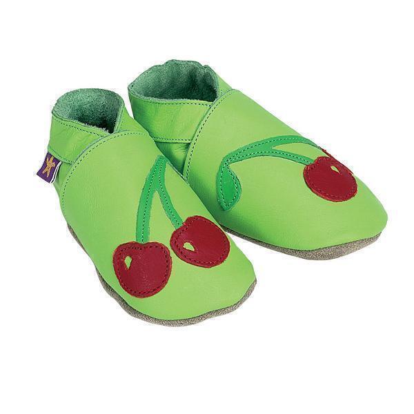 Starchild - Chaussons Cuir Cherry Baby Verts