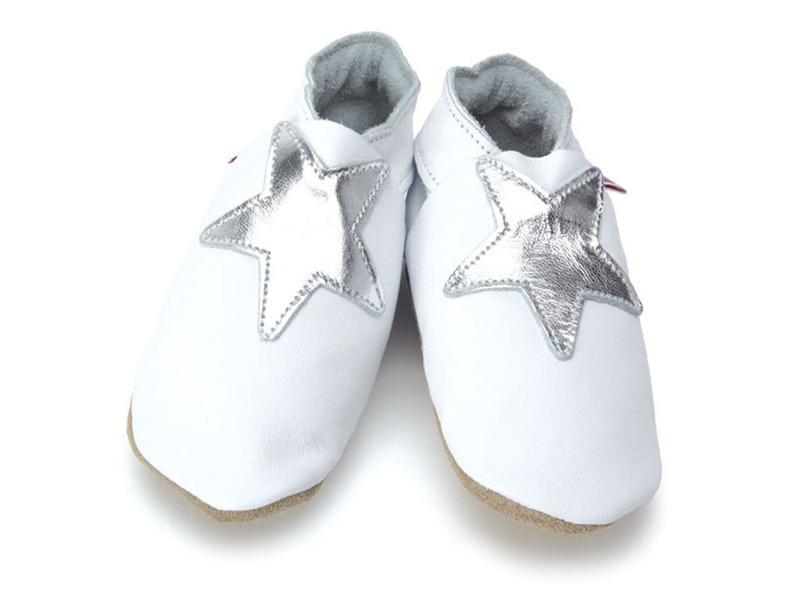 Starchild - Chaussons Cuir étoile argentée