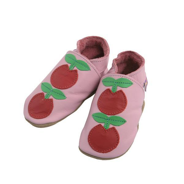 Starchild - Chaussons Cuir Fruits du verger Roses