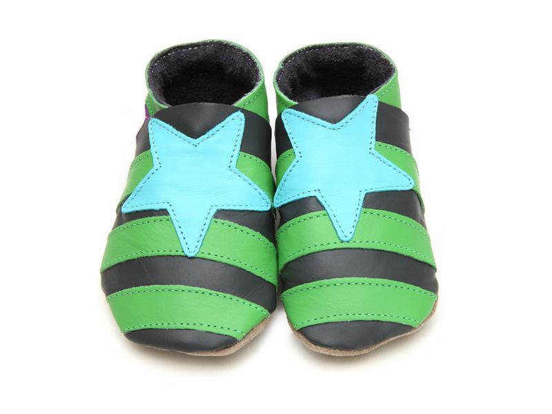 Starchild - Chaussons Cuir Matelot gris vert