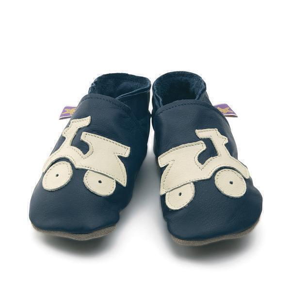 Starchild - Pantofole in Pelle Scooter Blu mare e Crema