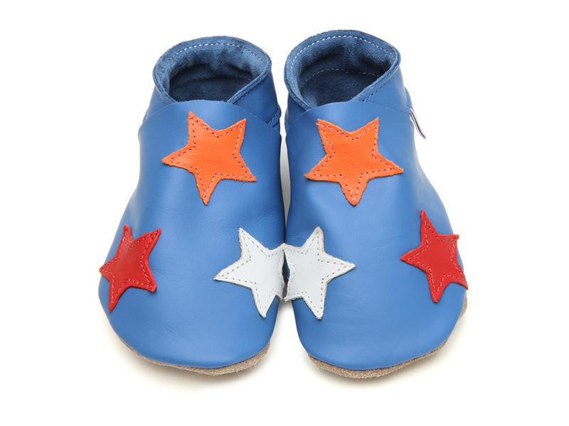 Starchild - Chaussons Cuir Stars Bleus