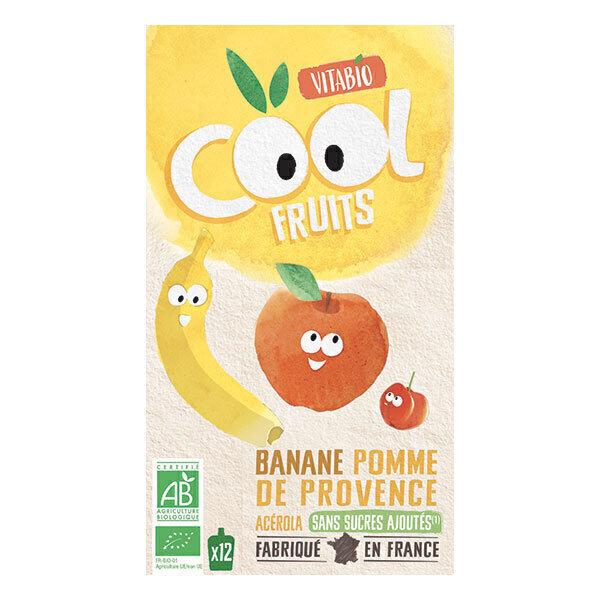 Vitabio - Cool Fruits Pomme Banane - Gourdes de fruits - 12 x 90g