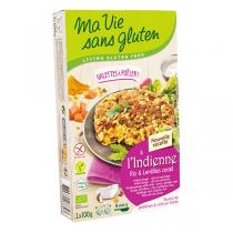 Ma Vie Sans Gluten - Galettes à l'Indienne lentilles corail et riz 2x100g