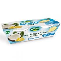 NaturGreen - Coconut & Pineapple Creamy Dessert - 2 x 125g