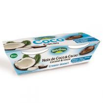 NaturGreen - Dessert al cocco e cacao Bio 2 x 125g