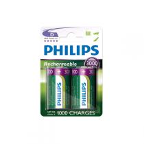 Philips - Rechargeables Batterie HR20 D 3000 mAh