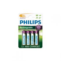 Philips - Rechargeables Batterie HR6 AA 2600 mAh
