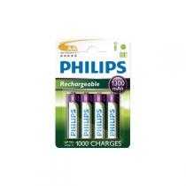 Philips - Rechargeables Batterie HR6 AA 1300 mAh
