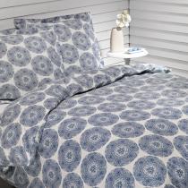 Plus De Coton - Copripiumino 200x200cm+2 federe - Blu indigo