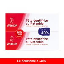 Weleda - Lot de 2 Dentifrices Ratanhia 75ml