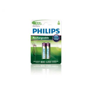 Philips - 2 HR03 AAA 800mAh Rechargeable batteries
